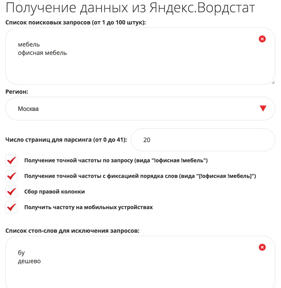 What is the Yandex Wordstat?